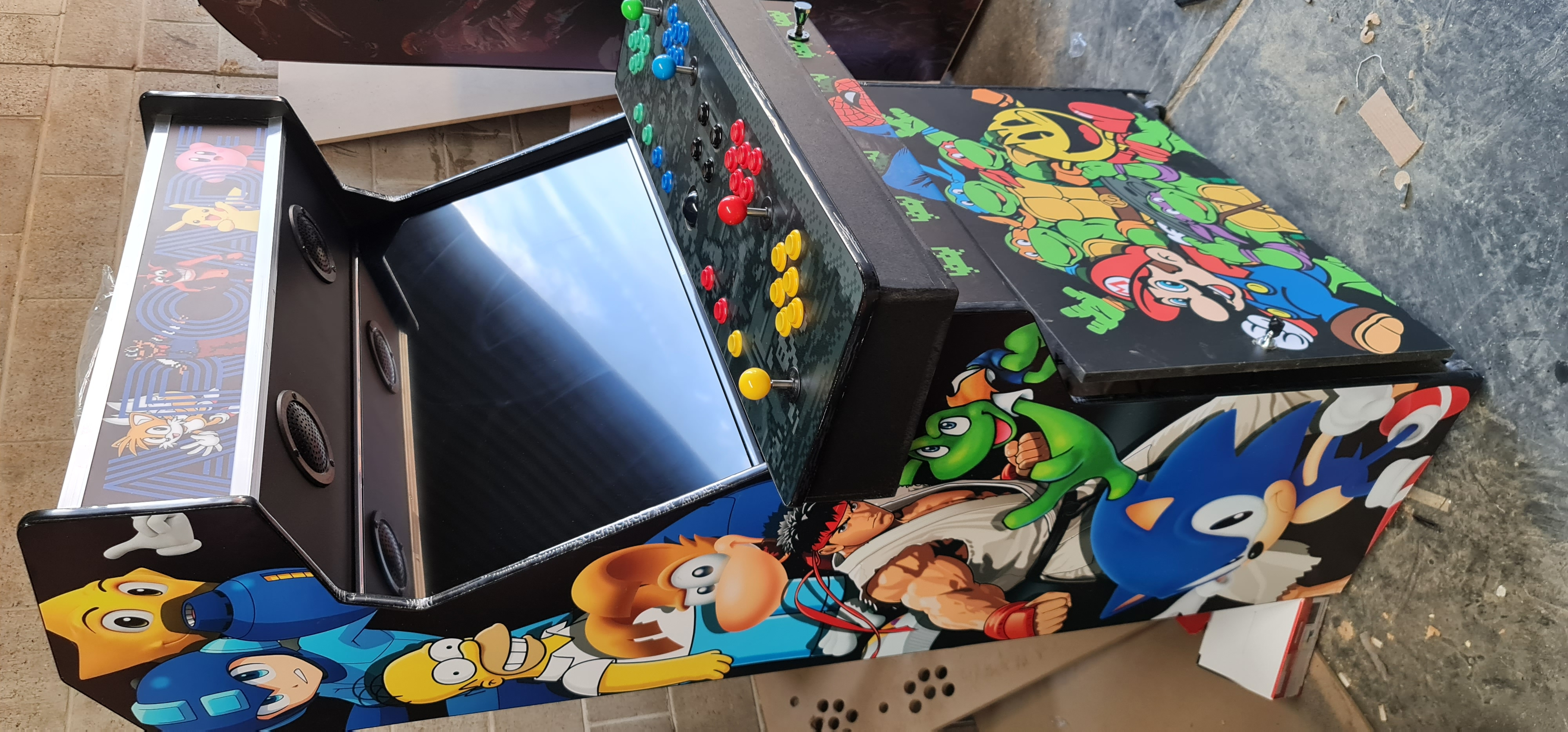 Classic Arcade characters cabinet
