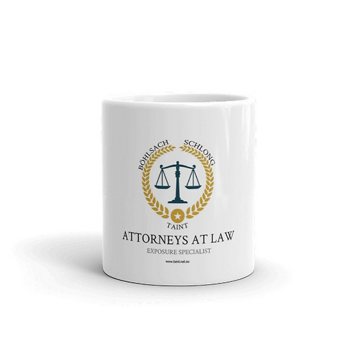 Böhlsach, Schlong & Taint Attorneys. Coffee mug