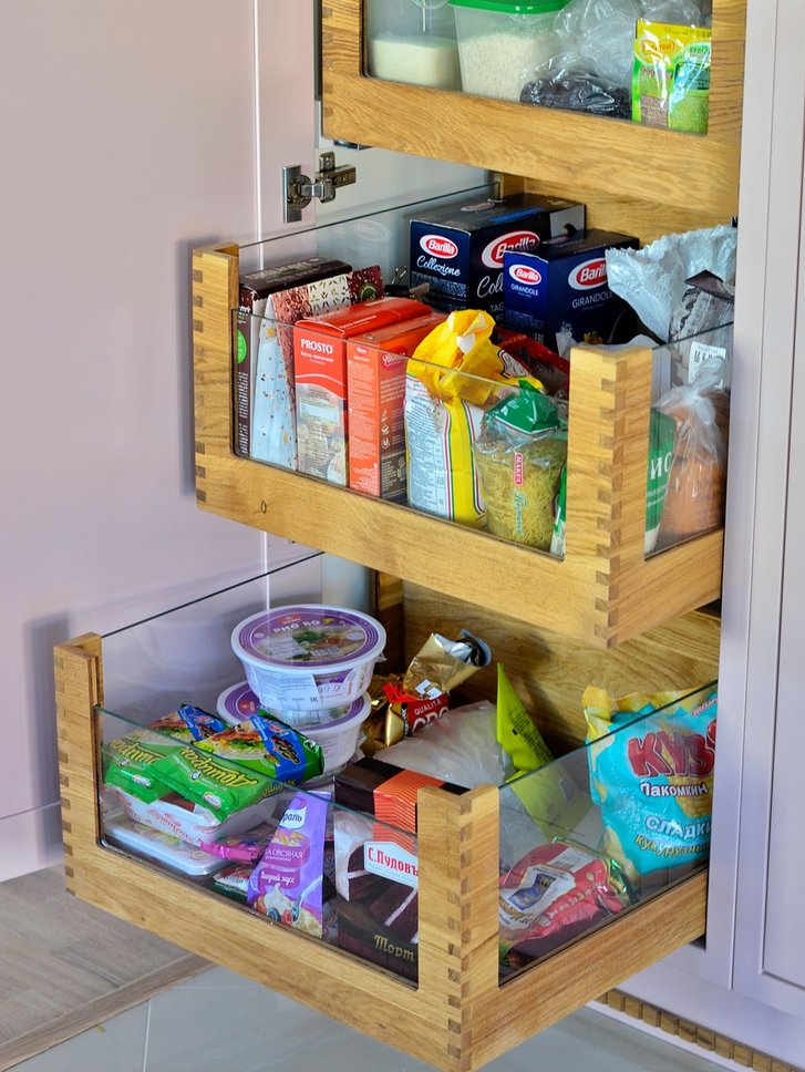 система хранения продуктов на кухне