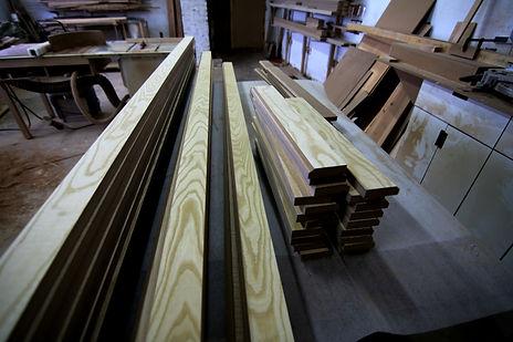 Заготовки для рамочных фасадов в шпоне ясеня