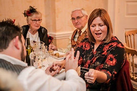 askham magician amazes wedding guest with close up magic, magician nottingham.