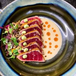 Vörös tonhal, csicseri borsó