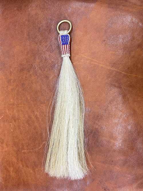 US Flag Horse Hair Tassel