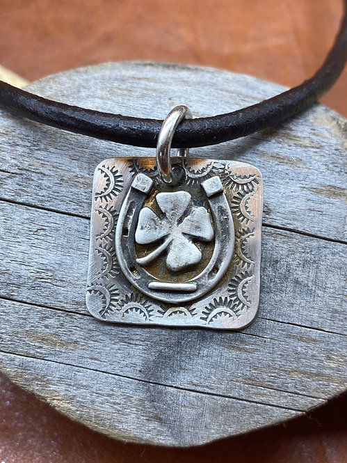 Sterling Lucky Horse Necklace
