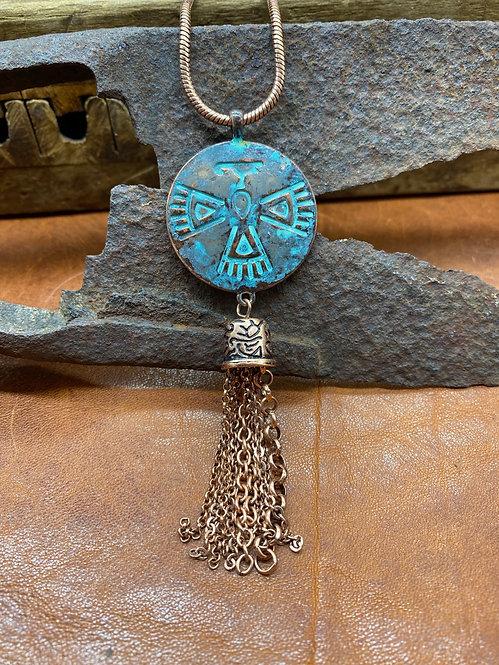 Copper Tribal Thunderbird Necklace