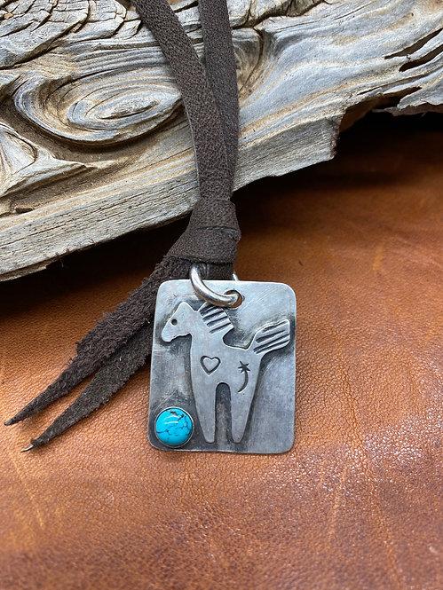 Sterling Pony Necklace