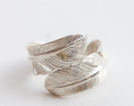 Twin Feather Ring