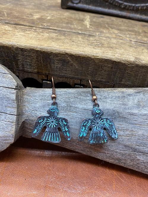 Copper Thunderbird Earrings