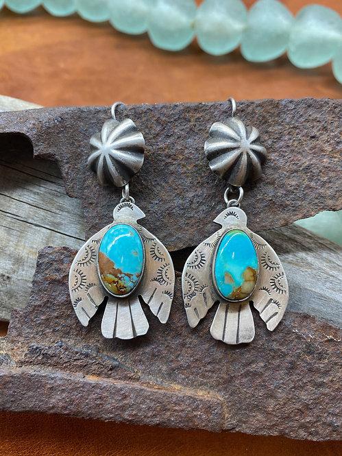 Sterling & Turquoise Thunderbird Earrings
