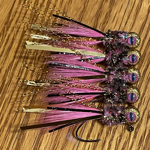 Custom Hand Tied Jigs (Reptile Eyes) *Check Sizes