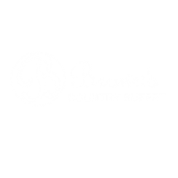 Brown's Country Buffet white logo