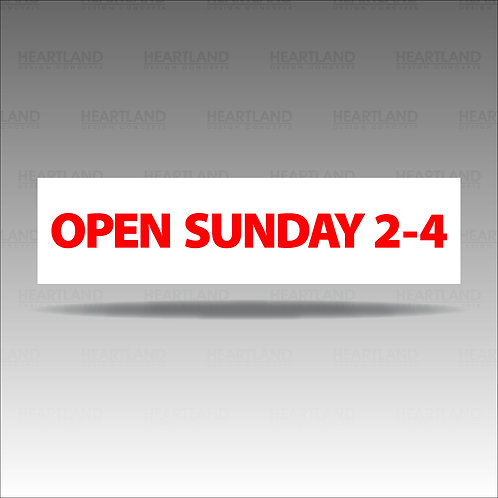 Open Sunday 2-4 Rider Sign