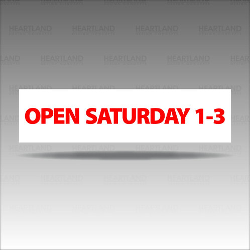Open Saturday 1-3 Rider Sign