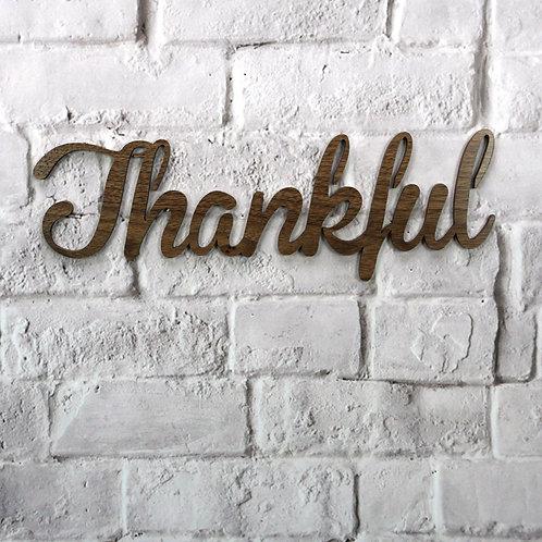Thankful (Walnut & Alder Wood)