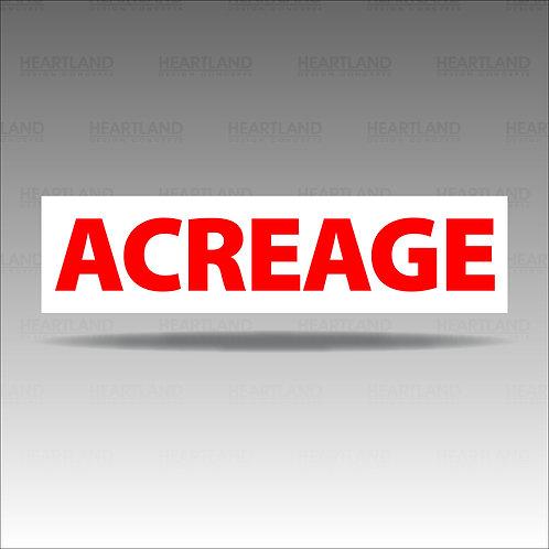 Acreage Rider Sign