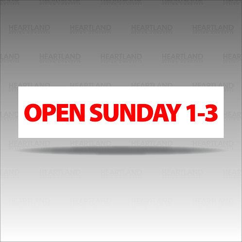 Open Sunday 1-3 Rider Sign