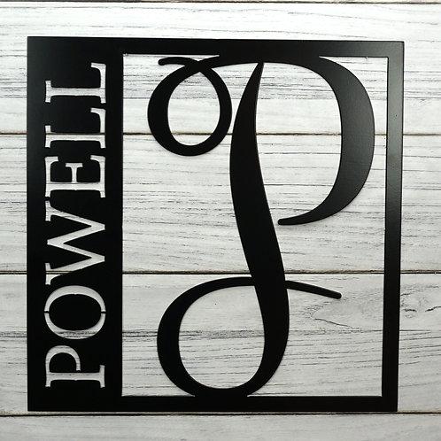 Personalized Monogram Square (Metal)