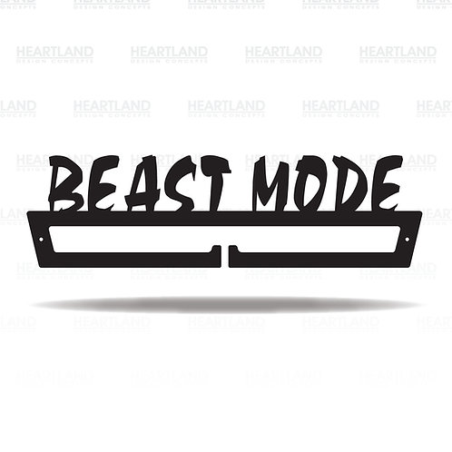 """""""Beast Mode"""" Medal Hanger"""