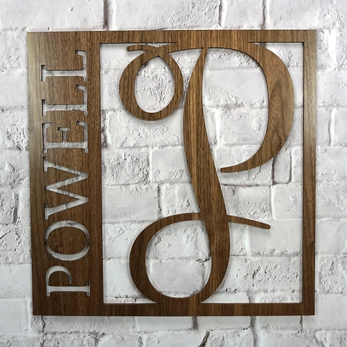 Personalized Monogram Square (Walnut & Alder Wood)