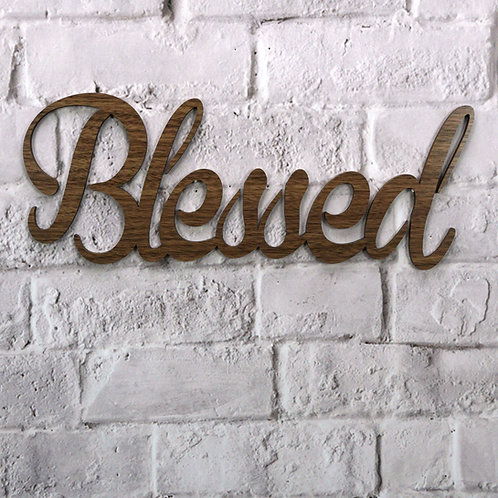 Blessed (Walnut & Alder Wood)
