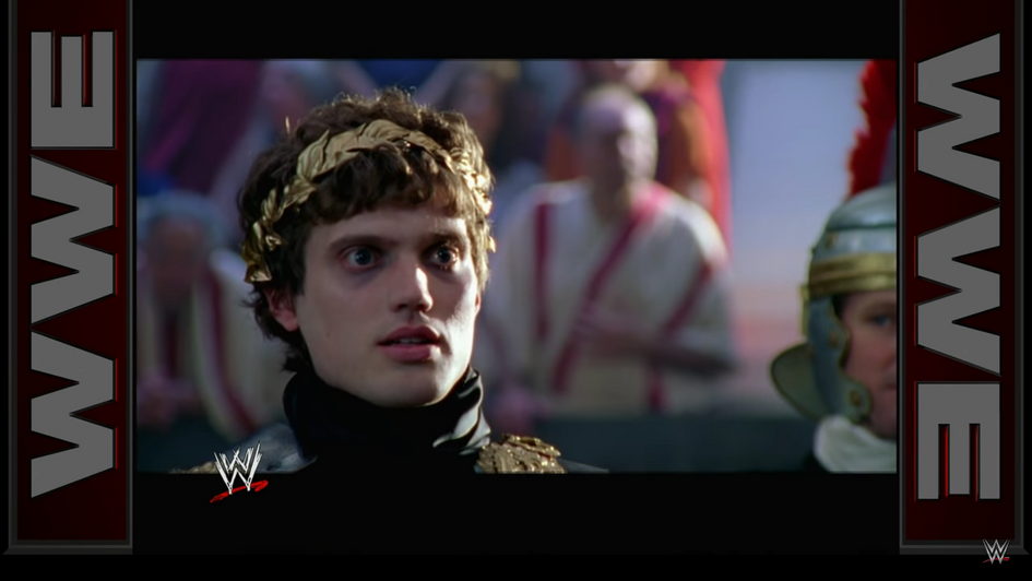 As Commodus for WWE (link to commercial provided)