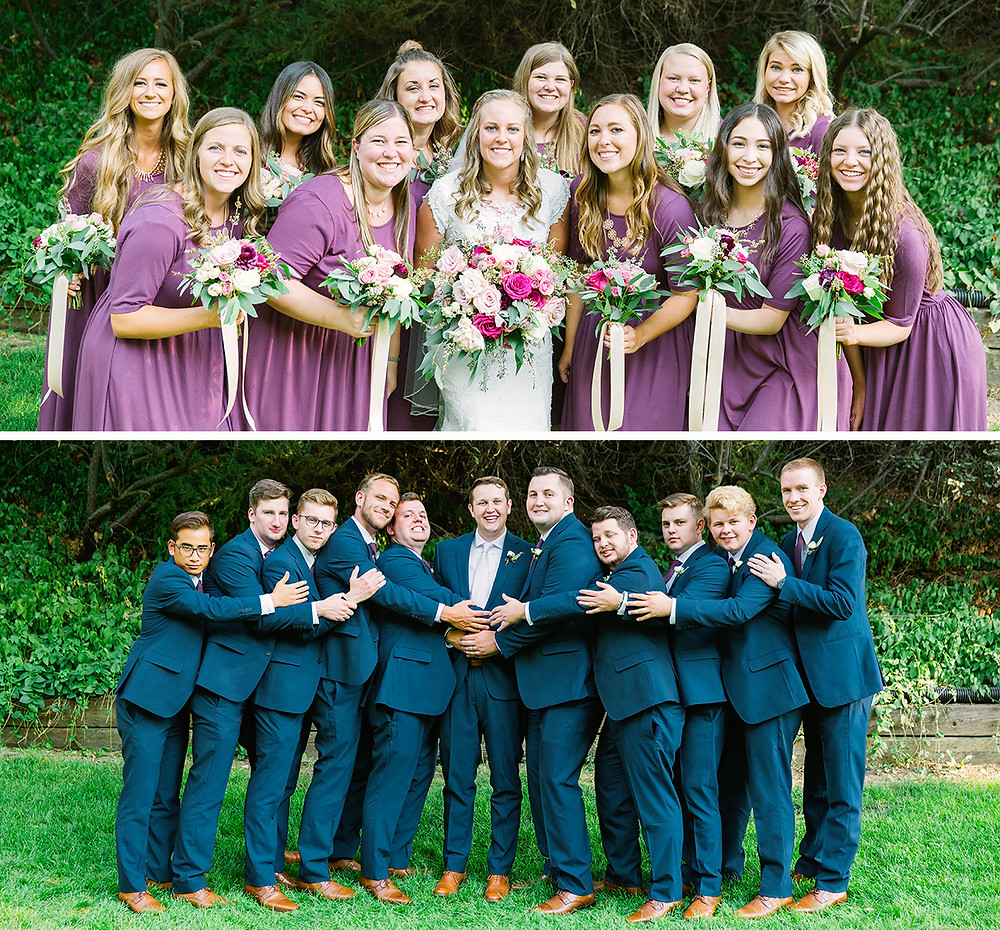 Utah wedding, bridesmaids and groomsmen, bride and groom, utah wedding, utah photographer, utah wedding photographer, best utah photographer