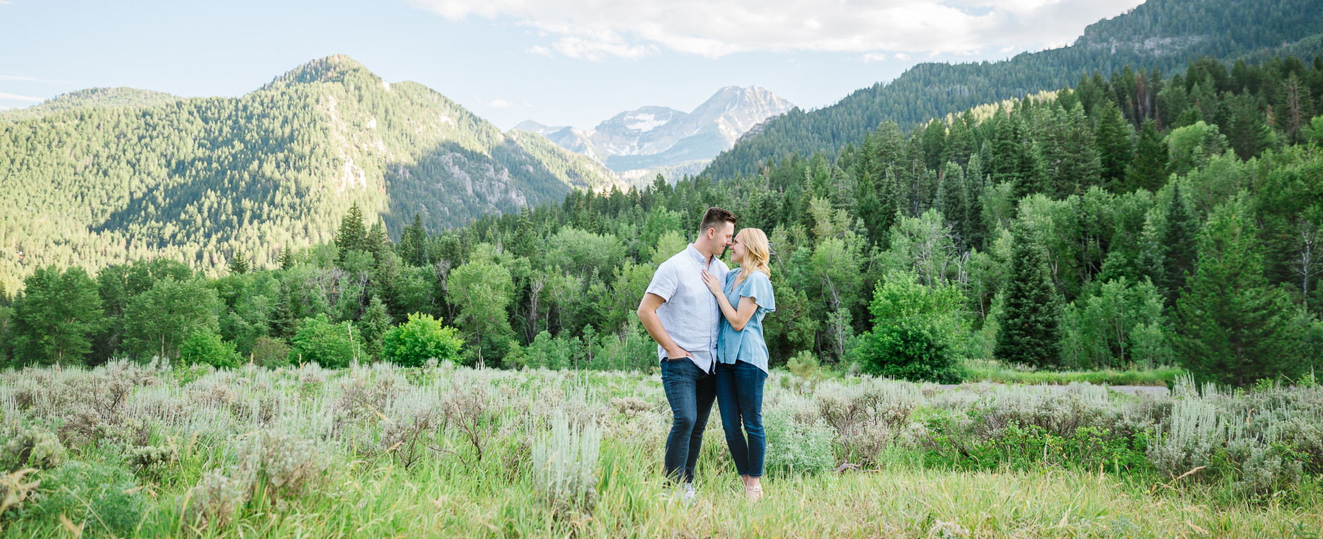 Mountain Engagement Picture Utah