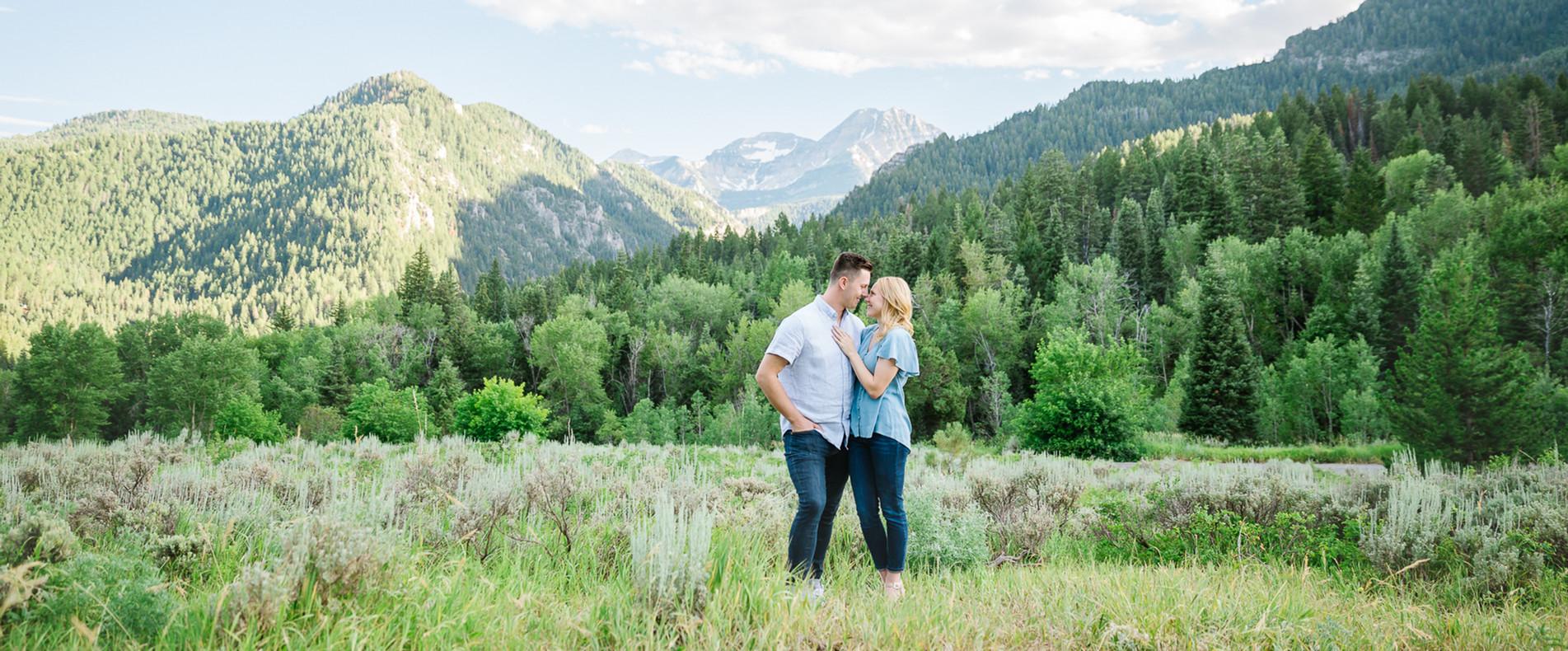 Mountain Engagement Picture Utah