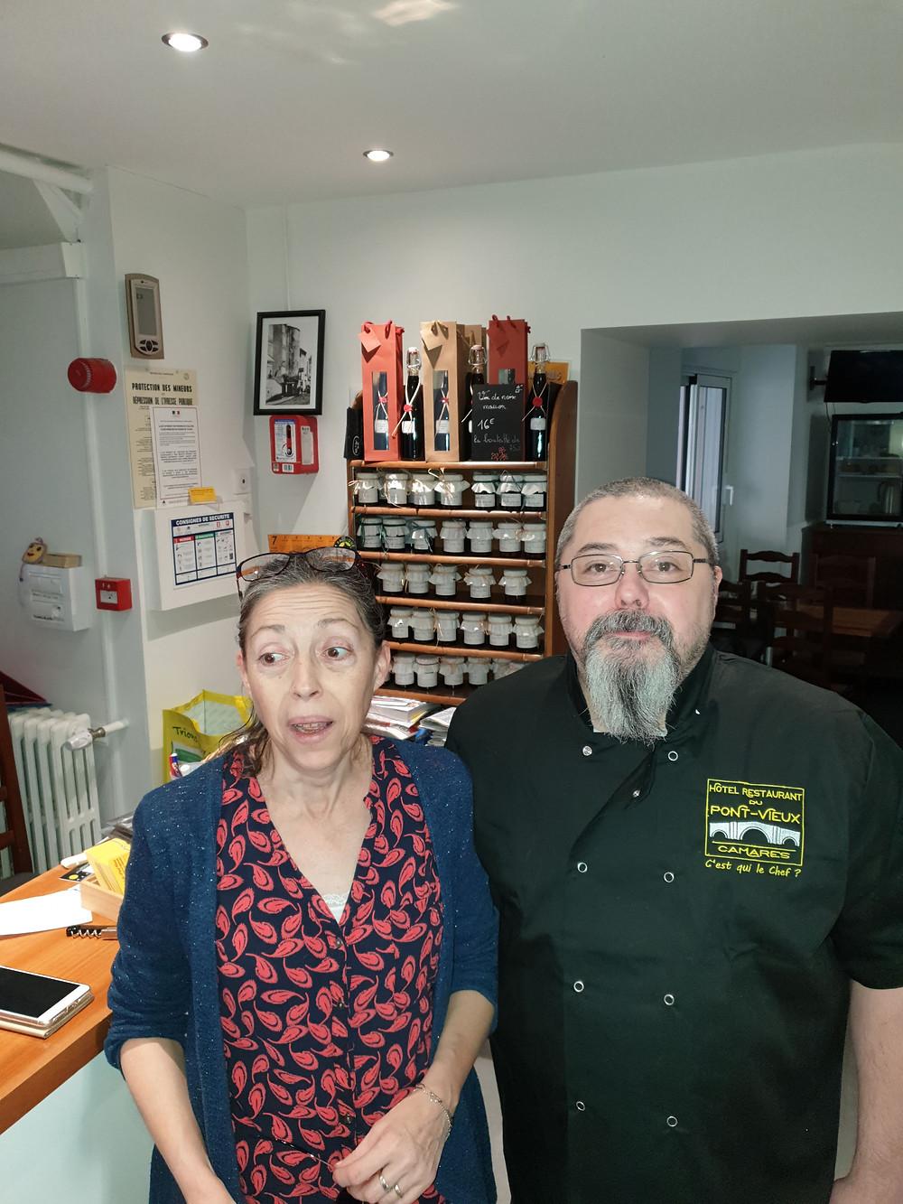 Myriam et Henri BRUNA - Hôtel restaurant du Pont-Vieux à Camarès