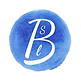 Logo Blue Watercolor Circle SLB transpar