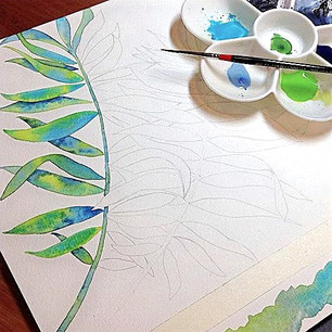Work in Process Tropical Leaves.jpg
