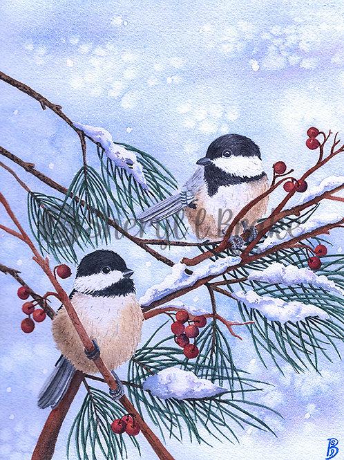"""""""Winter Chickadees"""""""