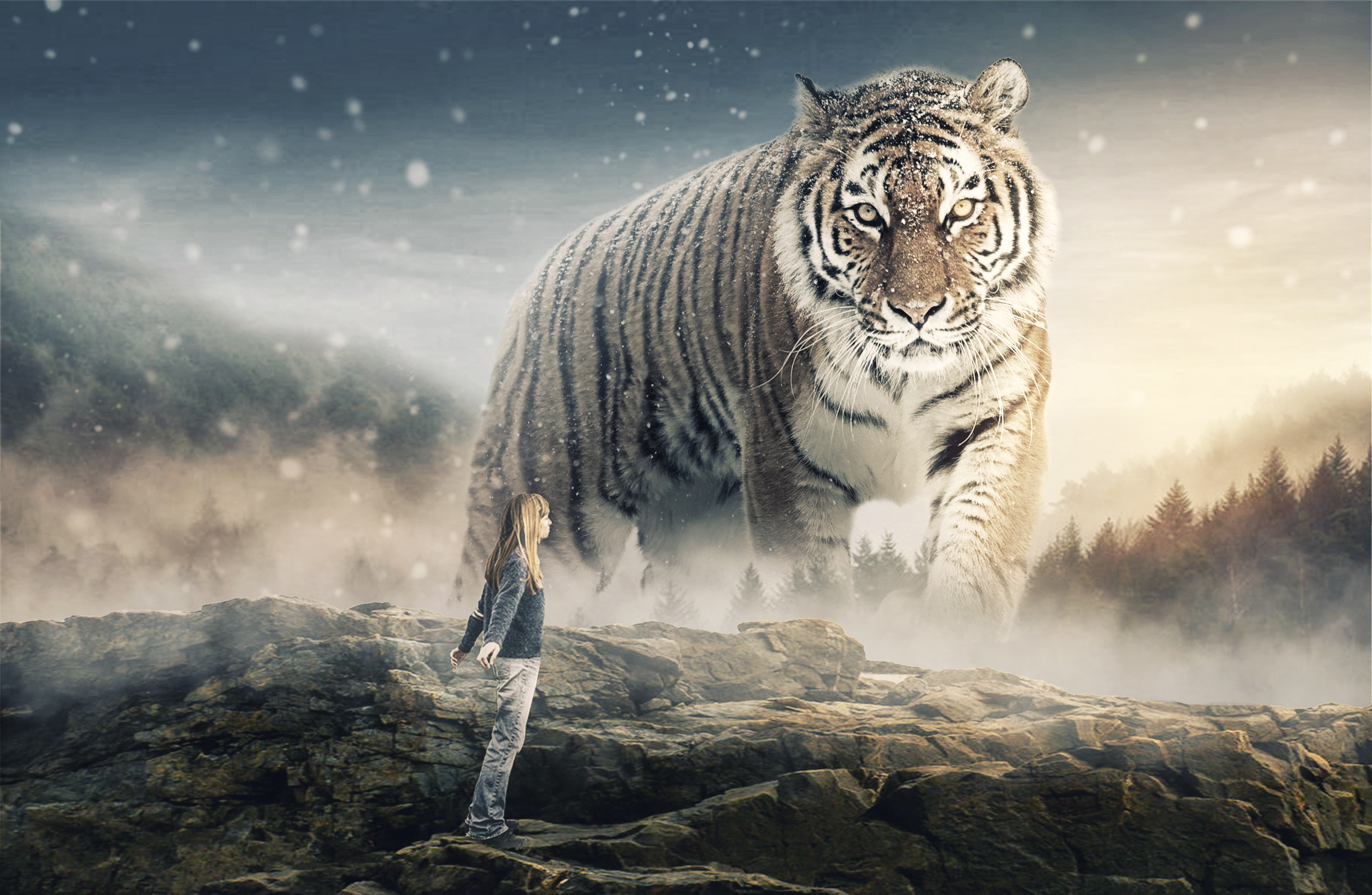 Georgie and the giant tiger