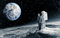 Astronaut and politician moon earth
