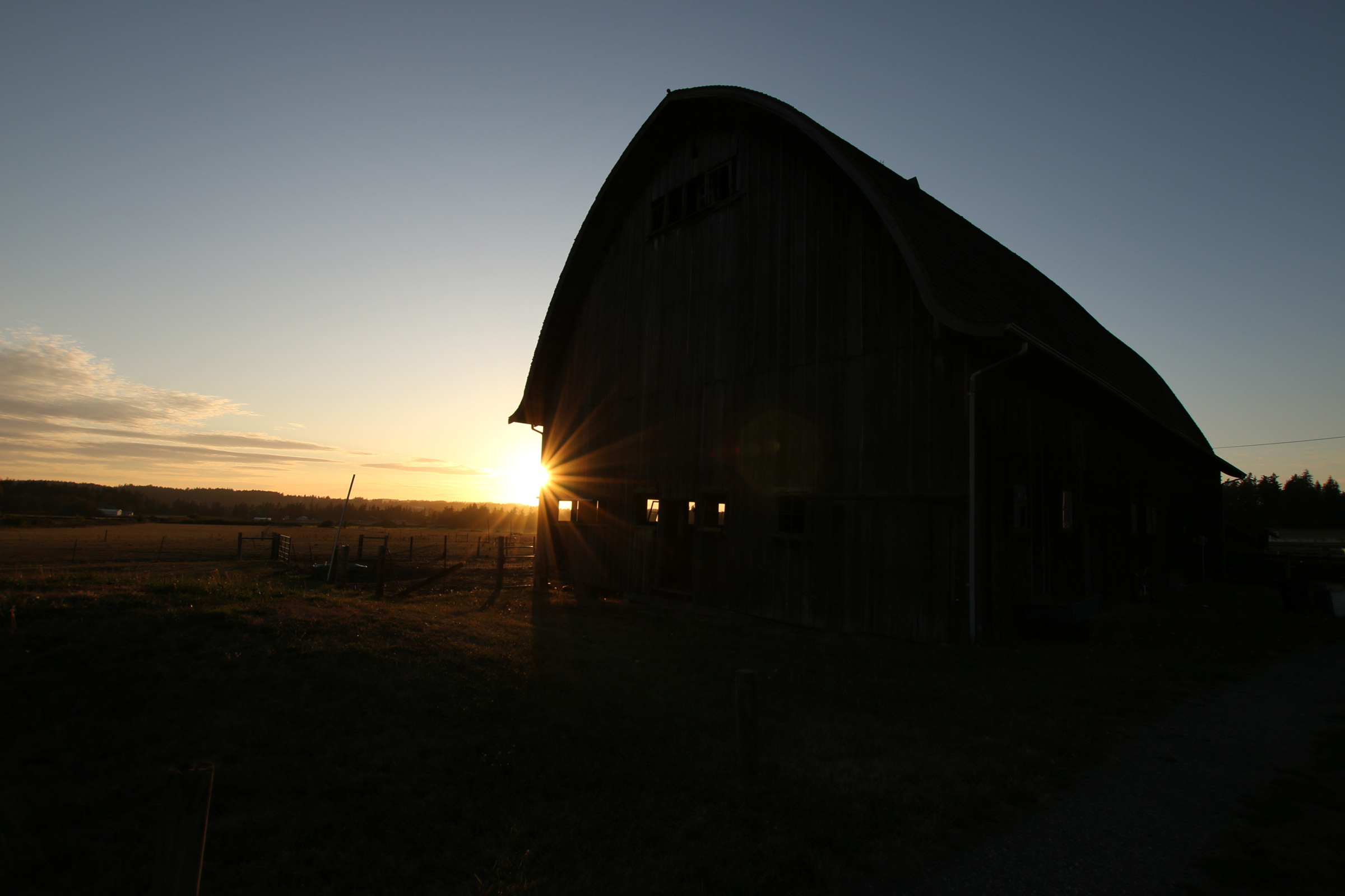 Barn 1 sunset