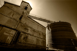 Grain silo, disused, Texas
