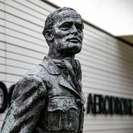 Bader statue at Goodwood