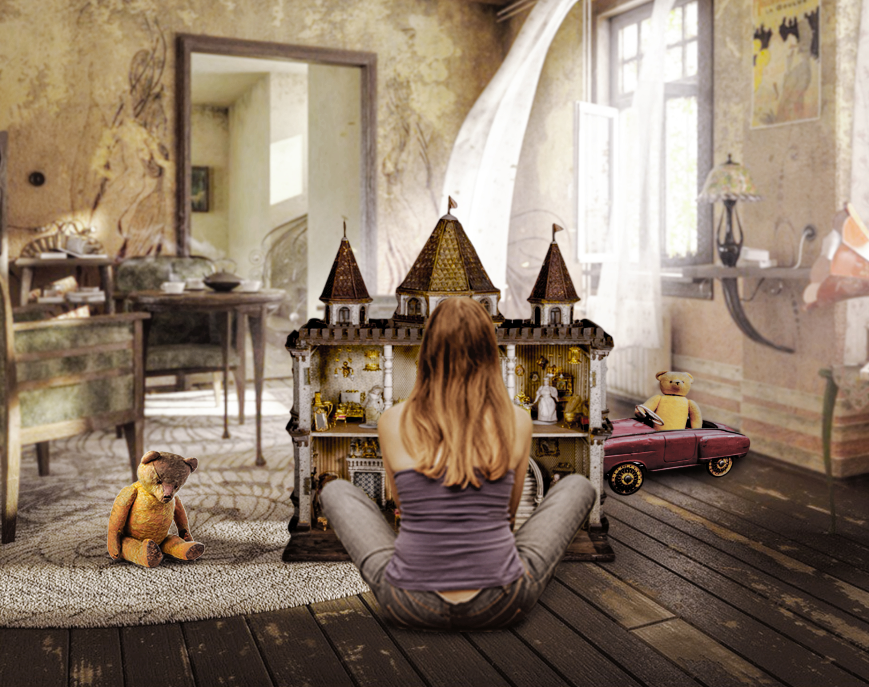 Georgie and the doll house