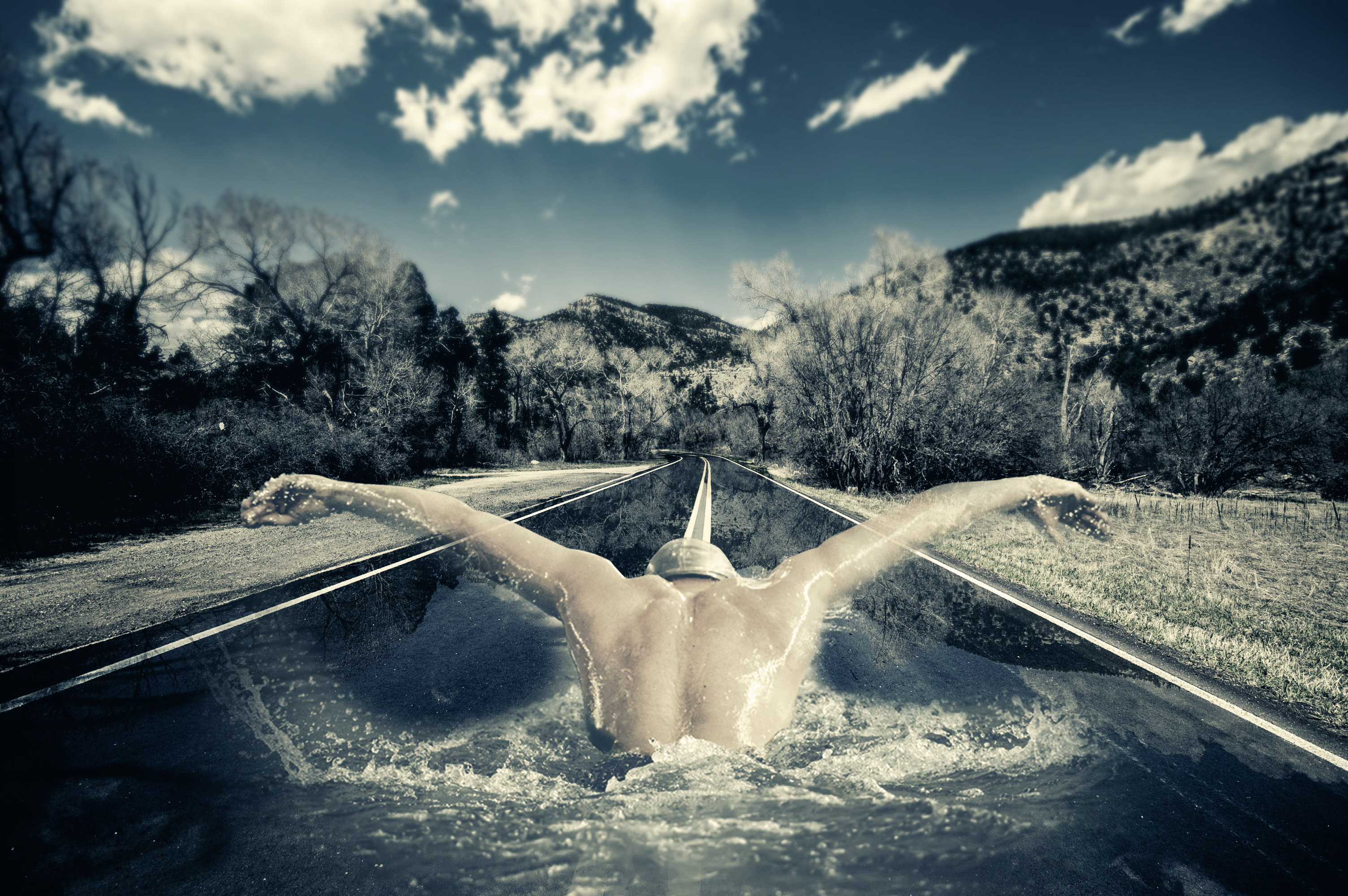 Road swimmer