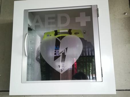Športni park Radomlje z novo pridobitvijo: AED (Avtomatski eksterni defibrilator)