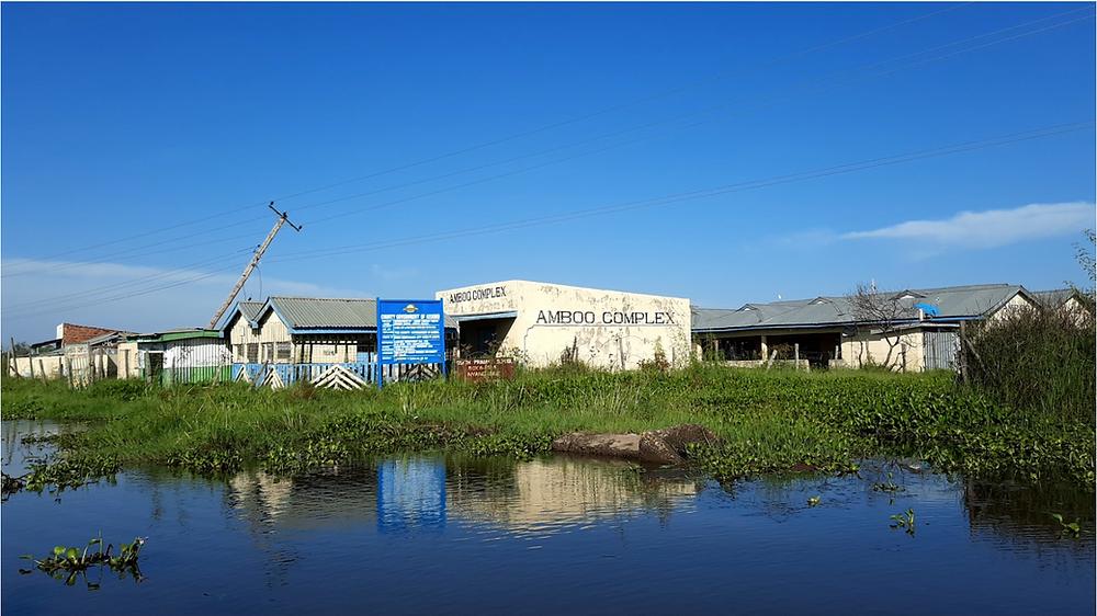 A business shopping center that submerged at Kano plains, Kisumu, Kenya.