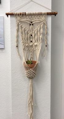 big macrame pot hanger