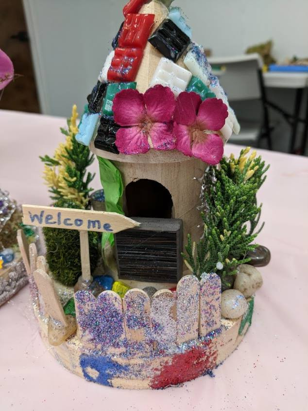 Fairy House with Welcome sign