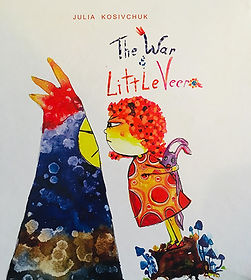 a front page of the book The War and Little Veera, English version