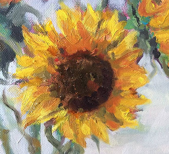 oil painting of the sunflower