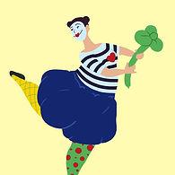 a clown with thw clover.jpg