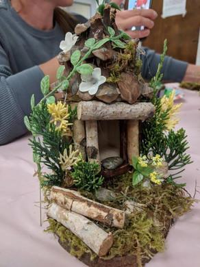 Leaf-covered Fairy House
