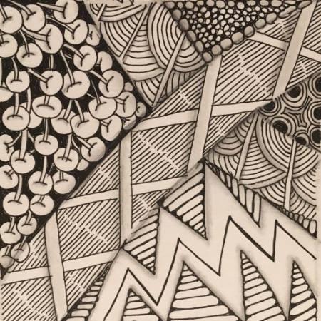 Zentangle lines