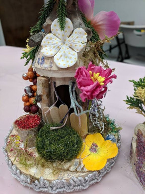 Fairy House decorated with flowers