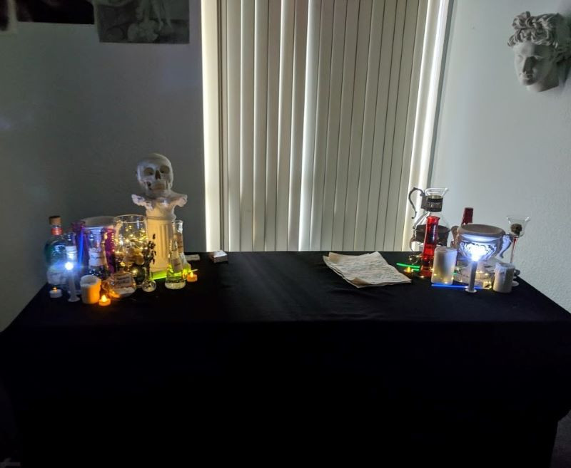 Potion class prepared for the party